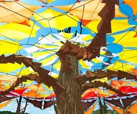 OZORA, HUNGARY - AUGUST 01: Contemporary art on Ozora Festival,
