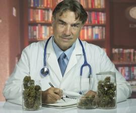 Doctor with medical marijuana