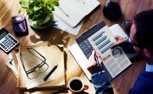 Businessman Working Calculator Balance Financial Planning Paperw