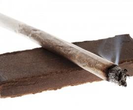 Lit Joint & 20 Grams of Hashish